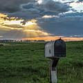 Mail Box In North Dakota  by John McGraw