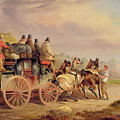 Mail Coaches On The Road - The 'quicksilver'  by Charles Cooper Henderson