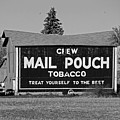 Mail Pouch Tobacco In Black And White by Michiale Schneider