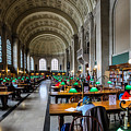 Main Reading Room Of Boston Public Library by Thomas Marchessault