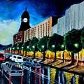 Main Street Clock Tower by Ramesh Mahalingam