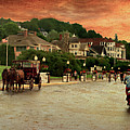 Main Street Mackinac Island Michigan Panorama Textured by Thomas Woolworth