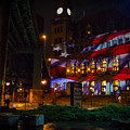 Main Street Station At Night by Aaron Dishner