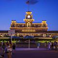 Main Street Station At Night by Steve Burns