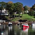 maine 18 Rock Port harbor View by Terri Winkler