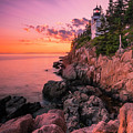 Maine Acadia Bass Harbor Lighthouse Sunset by Ranjay Mitra