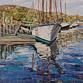 Maine Coast Boat Reflections by Richard Nowak
