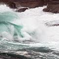 Maine Coast Storm Waves 2 Of 3 by Terri Winkler
