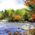 Maine Fall Pond by Laura Tasheiko