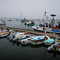 Maine Falmouth Boat Landing On Misty Morning Panorama by Ranjay Mitra