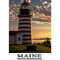 Maine Good Morning West Quoddy Head Lighthouse by Marty Saccone