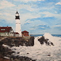 Maine Lighthouse by Marcia Crispino