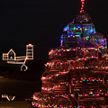 Maine Lobster Trap Christmas Tree by Jeff Folger