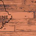 Maine Map Brand by Bigalbaloo Stock