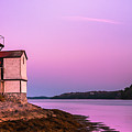 Maine Squirrel Point Lighthouse On Kennebec River Sunset Panorama by Ranjay Mitra
