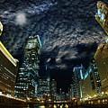 Majestic Chicago - Windy City Riverfront At Night by Bruno Passigatti