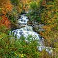 Majestic Drop Cullasaja Falls North Carolina Waterfall Art by Reid Callaway