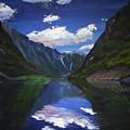 Majestic Fjords by Art Nomad Sandra  Hansen