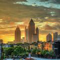 Majestic Gold Midtown Atlantic-station Atlanta Sunrise Art by Reid Callaway