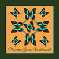 Majestic Green Swallowtail Wheel by Melissa A Benson