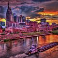 Majestic Nashville Cityscape Music City Art by Reid Callaway