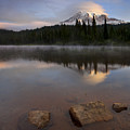 Majestic  Rainier Dawn by Mike  Dawson