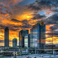 Midtown Majestic Reflections Atlanta Sunset Cityscape Art by Reid Callaway