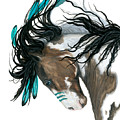 Majestic Turquoise Horse by AmyLyn Bihrle