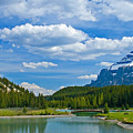 Majestic View At Cascade Ponds - Canadian Rockies by Levin Rodriguez