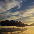 Majestic Vivid Sunset  Over Dark Mountains by George Tsartsianidis