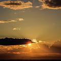 Majestic Vivid Sunset/sunrise With Dark Heavy Clouds And Sunrays by George Tsartsianidis