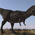 Majungasaurus In A Barren Environment by Kostyantyn Ivanyshen