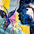 Make A Wish Abstract Art Figure Painting  by Kathy Augustine