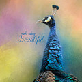 Make Today Beautiful - Peacock Art by Jai Johnson