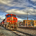 Make Way B N S F Train Gallup New Mexico Art by Reid Callaway