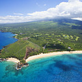 Makena Beach Aerial by Ron Dahlquist - Printscapes