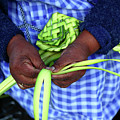 Making A Palm Frond Ornament For Palm Sunday by James Brunker