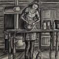 Making Bread In The Cabin by Dawn Senior-Trask