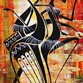 Makonde And Mask 5 by Abu Artist