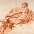 Male Nude Study by Giovanni Battista Lombardi