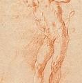 Male Nude [verso] by Gian Antonio Guardi