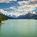 Maligne Lake In Jasper National Park by Miroslav Liska