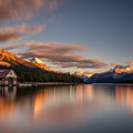 Maligne Lake Sunrise by Pierre Leclerc Photography