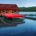 Maligne Tours Boat House by Jerry Fornarotto