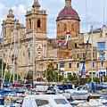 Malta - The Church And The Sea by Brenda Kean