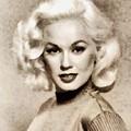 Mamie Van Doren, Vintage Actress And Pinup by John Springfield