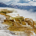 Mammoth Hot Springs In Yellowstone National Park, Wyoming. by Addy Ho