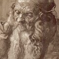 Man Aged 93 Brush Ink On Paper 1521 by Durer Albrecht