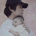Man And Baby by Masami Iida