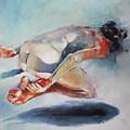 Man And Fish 5 by Tony Belobrajdic